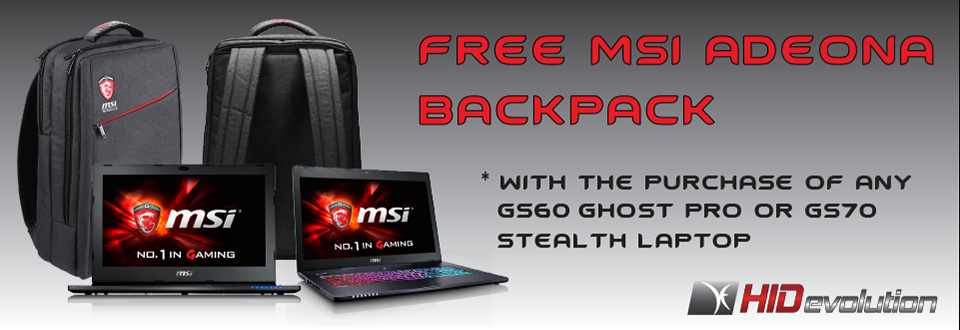 Free MSI Adeona Backpack Promotion
