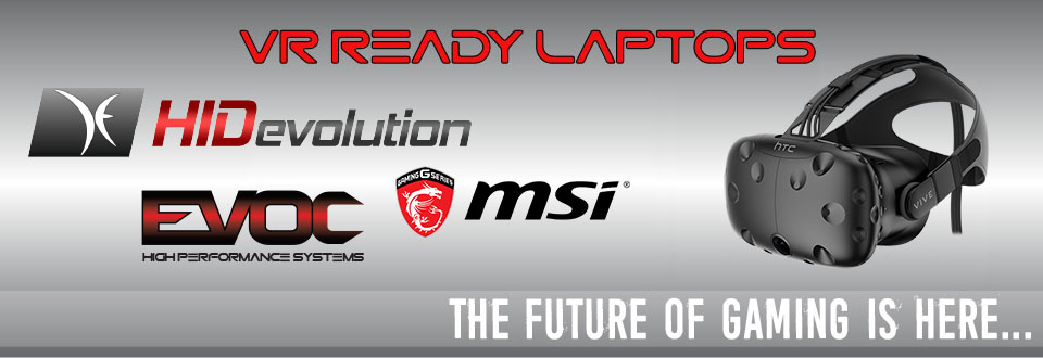 VR Ready Gaming Laptops