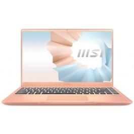 """MSI Modern 14 B11MO-608 - 14"""" FHD - i7-1165G7 - Intel Iris Xe - Beige Mousse"""