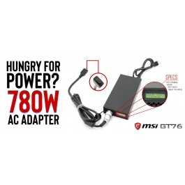 780W Laptop Power Adapter for EVOC X1701 (X170SM) and MSI GT76 Titan (includes DC Cable)