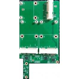 MSI Super RAID 2 Triple mSATA Adapter Board supports 3 mSATA SSDs 607-16F42-01S