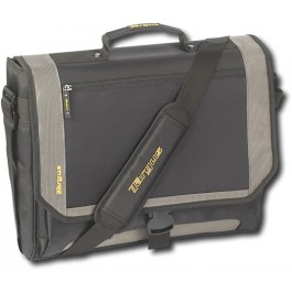 Targus - CityGear Miami Messenger Laptop Case - Black/ Gray