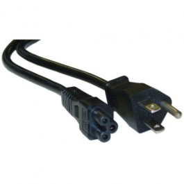 US 6 Ft Power Cord C5 Cloverleaf